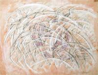 Like Wave. 1998 Acryl paper 49.5×64cm