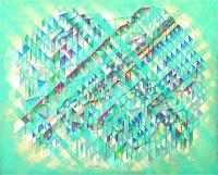 Optical rule. 2007 Acryl canvas 53×65cm