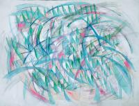 Wave. 1998 Acryl paper 49.5×64cm