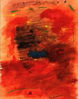 Evening sun & coming home 夕陽と帰宅 1980 Acryl Paper 32×41cm ⓒToshihiko Shibano