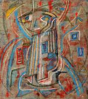 Kawaii 可愛い 2009 Pastel canvas 50×46cm ⓒToshihiko Shibano
