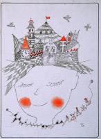 Garcon  少年 1980 Pen Acryl paper 19×28.5cm  ⓒToshihiko Shibano
