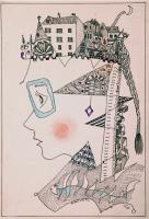Parisienne パリジェンヌ 1980 Pen Acryl paper 20.5×29.5cm ⓒToshihiko Shibano