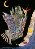 Pale dream at night 蒼冷めた夜の夢 1986  Acryl Paper 20.5×32cm ⓒToshihiko Shibano