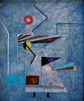Memory of bird  鳥の記憶 1976 Oil  canvas 38×45cm ⓒToshihiko Shibano