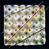Eyes Shuffle  1999 目のシャッフル 35×35cm