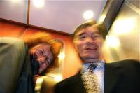 In the elevator エレベーターの中で Nadine Richard ナディーヌ リシャール Paris ⓒToshihiko Shibano