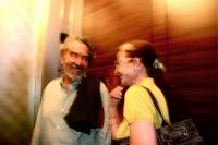 In the elevator エレベーターの中 Jean   Mirka ジャン ミルカ Tokyo ⓒToshihiko Shibano
