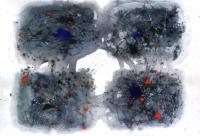 No 4  Acryl  Color-Ink Pen  Paper   32×41cm 1983  ⓒToshihiko Shibano