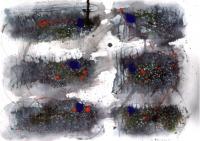 No 6   Acryl Color-Ink Pen  Paper   32×41cm  1983 ⓒToshihiko Shibano