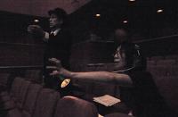 Stage manager and lighting supervisor 舞台監督の井村昴さん(左)と照明監督の阿倍康子さん(右) 6月公演に続いて10月公演も担当。ⓒToshihiko Shibano