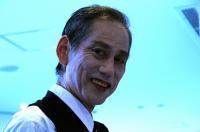 Stage manage 舞台監督の井村さんは、元黒テントにいた役者さんでもある。ⓒToshihiko Shibano