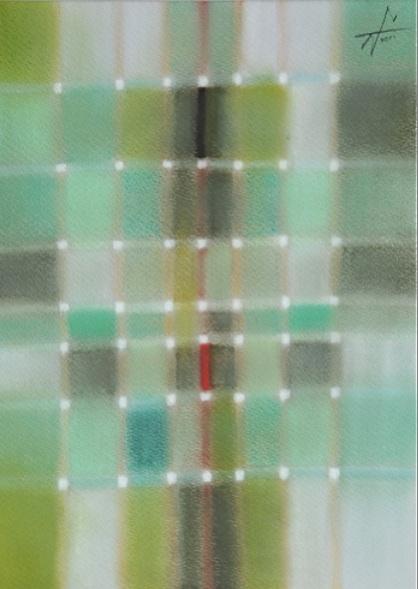 Predawn 夜明け前 #3  2011 Pastel  Paper .33×24cm  ⓒToshihiko Shibano