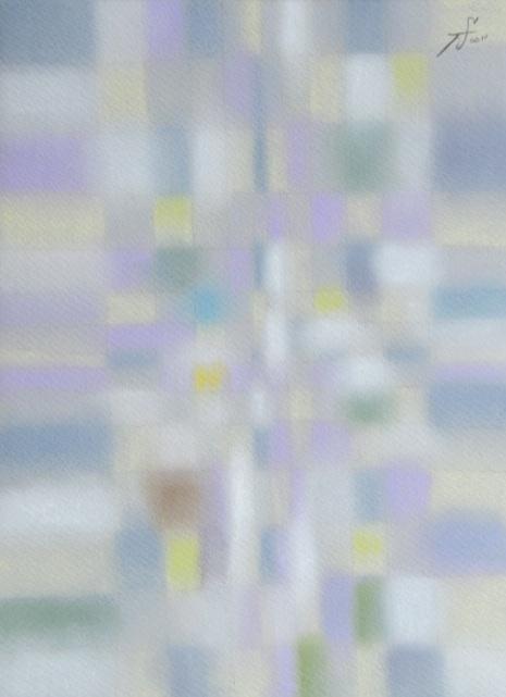Predawn 夜明け前 #4  2011 Pastel  Paper .33×24cm   ⓒToshihiko Shibano