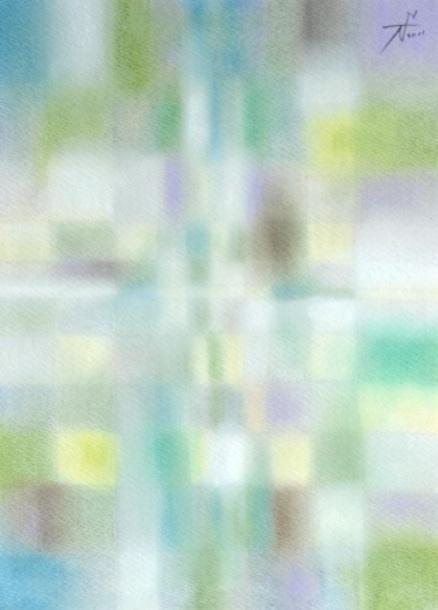 Predawn 夜明け前 #5  2011 Pastel  Paper .33×24cm   ⓒToshihiko Shibano