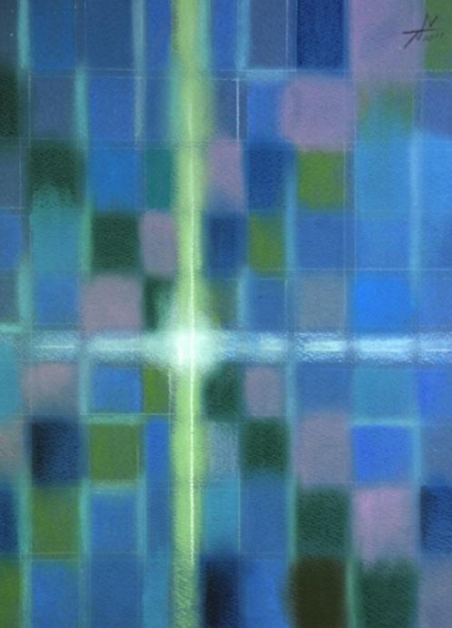 生きとし生けるものへ For all living things   2011 Pastel  Paper  33×24cm ⓒToshihiko Shibano