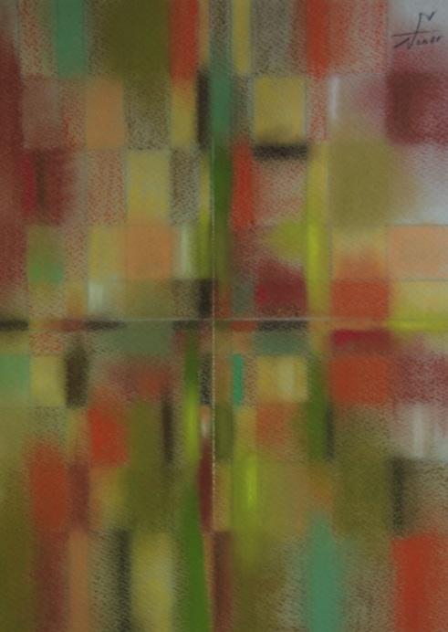 静かに生きる権利 The right to live calmly 2011 Pastel  Paper  33×24cm ⓒToshihiko Shibano