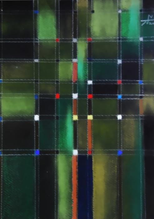 文明の光 Light of civilization  2011 Pastel  Paper  33×24cm  ⓒToshihiko Shibano