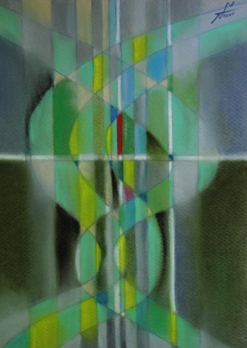 グランド・ゼロ1 Ground Zero 1  2011 Pastel  Paper  33×24cm ⓒToshihiko Shibano
