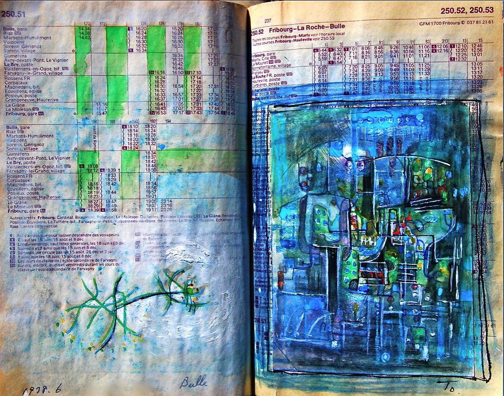 箱の中 in the box  p250.52  1978 Pen  Water colour Pastel  Paper  18×22.5cm ⓒToshihiko Shibano