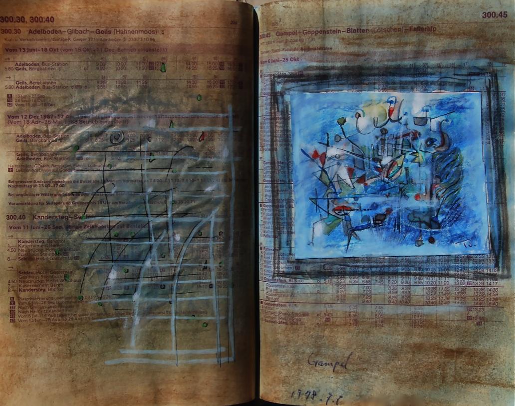 それから sorekara  p300.45 1978 Pen  Water colour Pastel  Paper  18×22.5cm  ⓒToshihiko Shibano