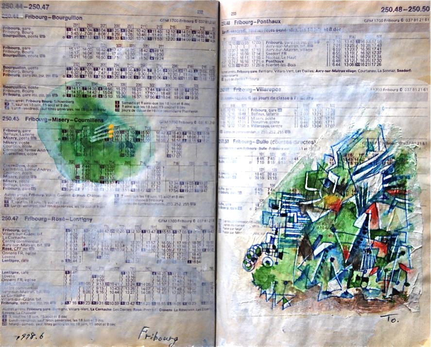 浮遊感覚 Floating feeling p250.48  1978 Pen  Water colour Pastel  Paper  18×22.5cm ⓒToshihiko Shibano