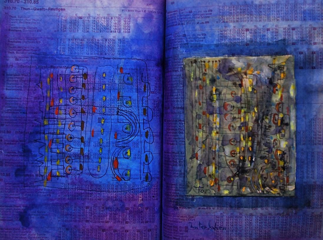 宝物の埋まっている場所 The place where the treasure is buried   p310.85 1986  Pen  Water colour Pastel  Paper  18×22.5cm