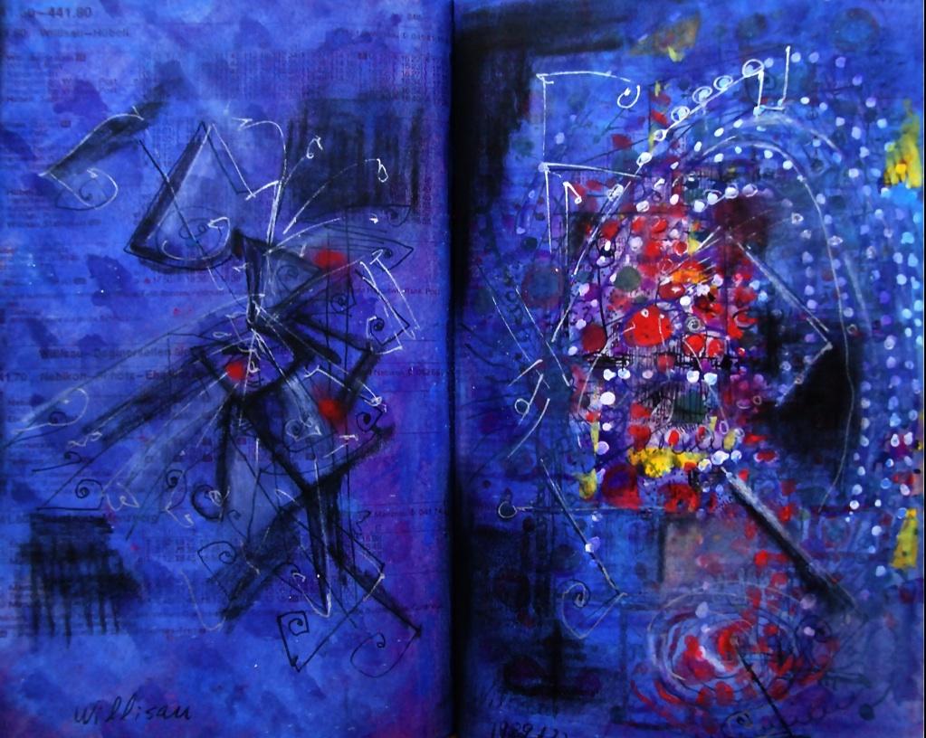 渦巻き Swirl  p310.85 1986 Pen   Acryl Pastel  Paper  18×22.5cm  ⓒToshihiko Shibano