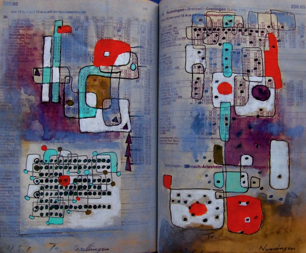 仮面 Mask p230.60 1989  Pen  Acryl  Paste Paper  18×22.5cm ⓒToshihiko Shibano