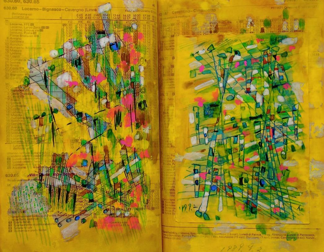情熱 Passion  p630.60 1989 Pen  Water colour Paper  18×22.5cm ⓒToshihiko Shibano