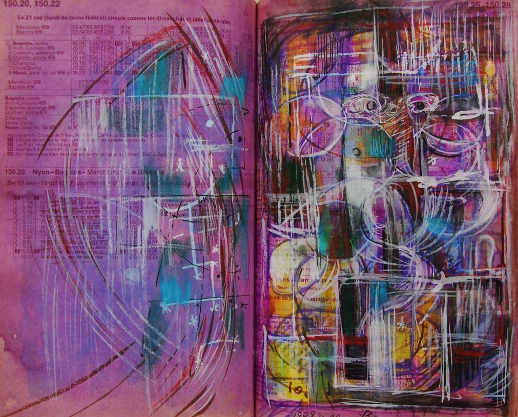 あなたがそこにいるということ  You are there  p150.20 1989 Pen   Acryl  Water colour  Paper  18×22.5cm  ⓒToshihiko Shibano