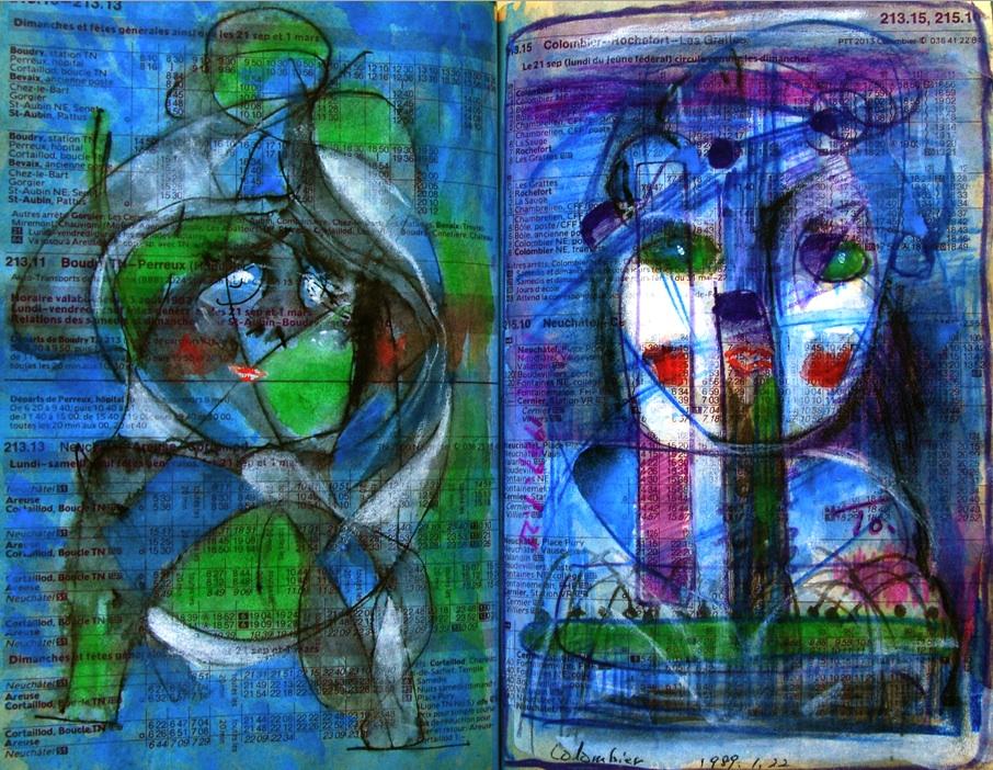 子供 Child p181 1989 Mixed Media Paper 18×22.5cm  ⓒToshihiko Shibano