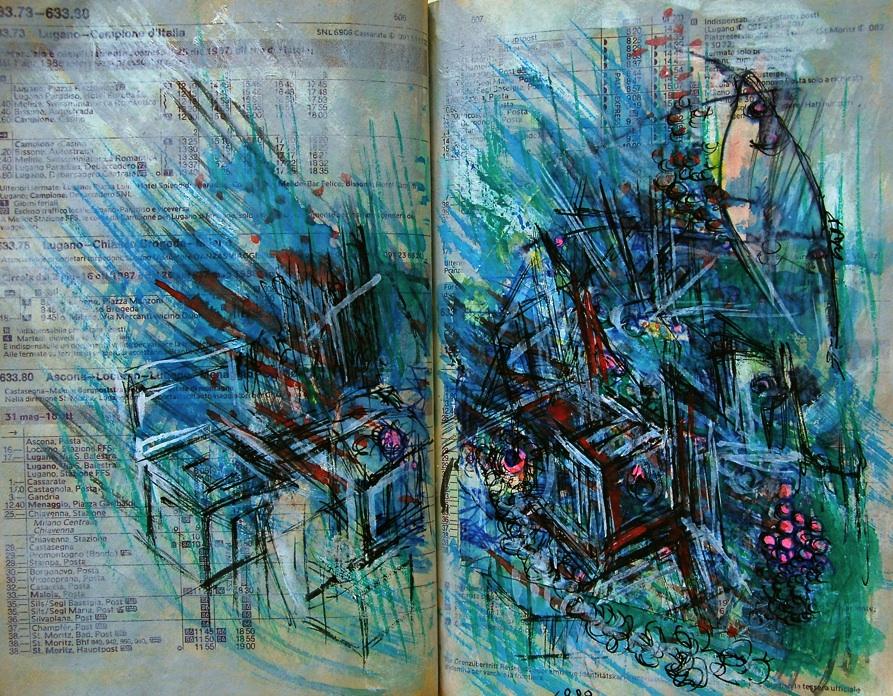 生成と崩壊 Generation and collapse  p507   1989 Mixed Media Paper 18×22.5cm  ⓒToshihiko Shibano