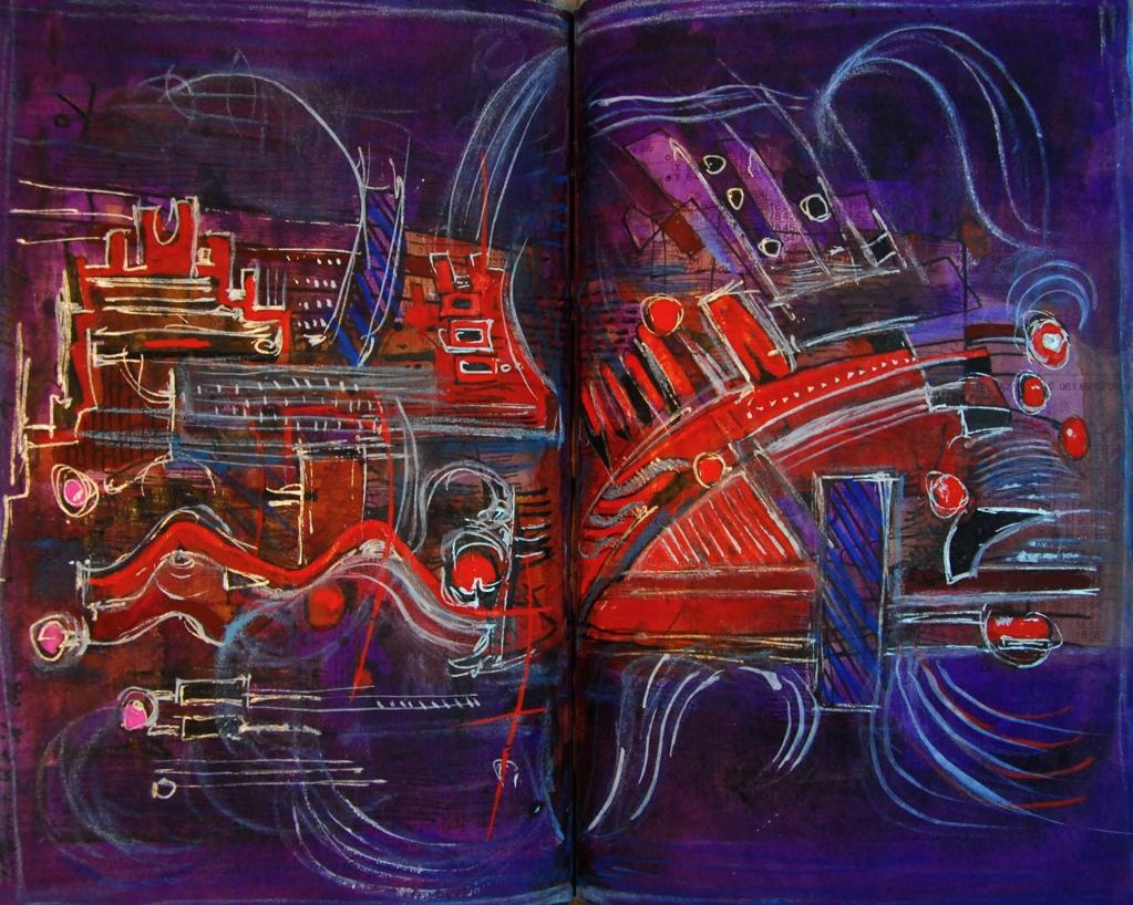 赤い河  Red river p230.35 1990 Mixed Media Paper 18×22.5cm  ⓒToshihiko Shibano