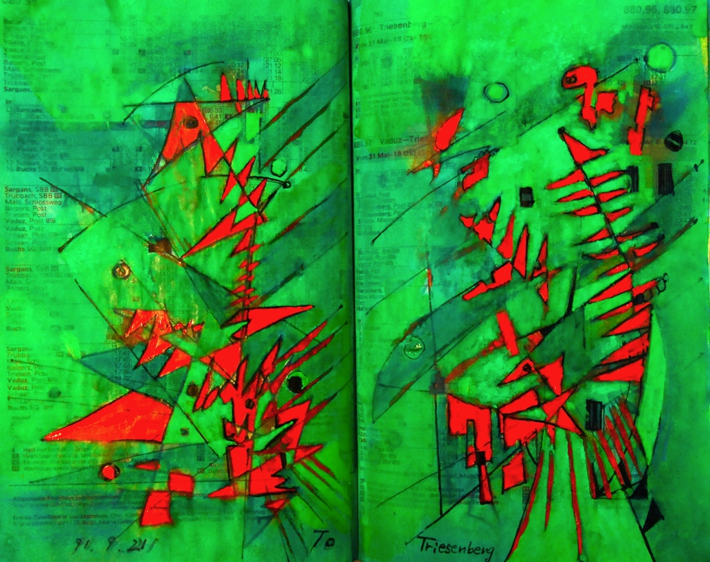 骨まで愛して Love to my bone p880.95 1991 Mixed Media Paper 18×22.5cm  ⓒToshihiko Shibano