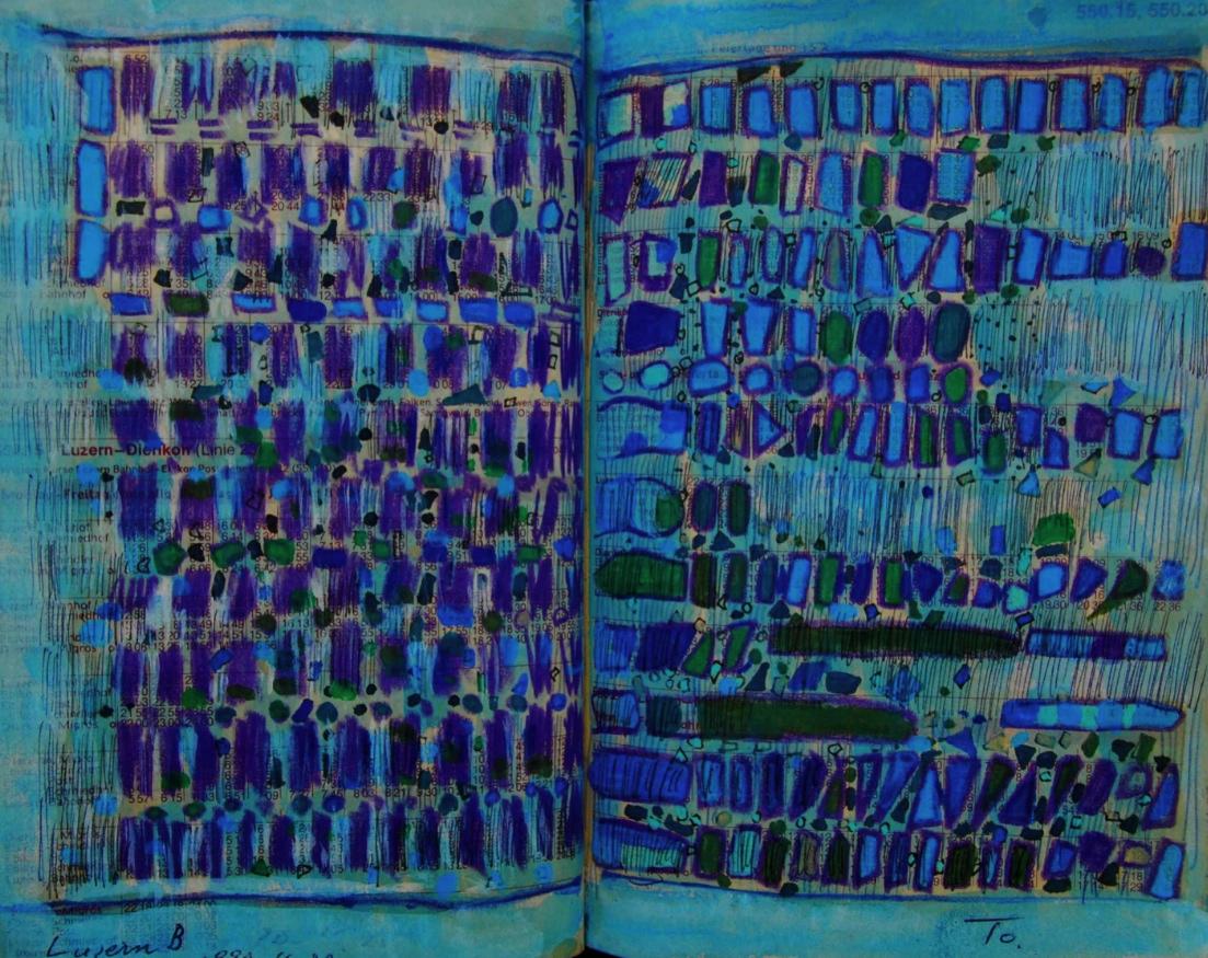 黙示録 Revelation  p550.15 1990 Mixed Media Paper 18×22.5cm  ⓒToshihiko Shibano