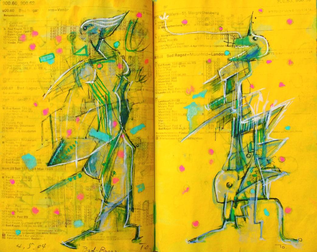 巨人 Giant  p900.60 2004 Mix Media  Paper  18×22.5cm  ⓒToshihiko Shibano