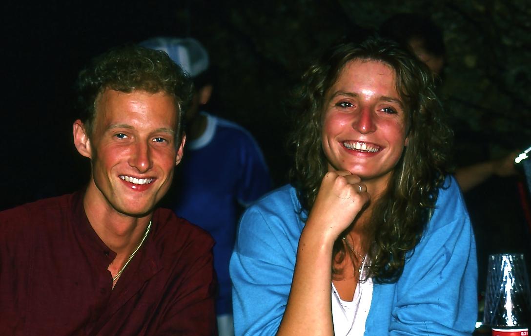 フィッツナウ・パークホテルの従業員  The employee of  Park Hotel Vitznau  洞窟で催されたスイスホルンの祭りに誘ってくれた。シャイで素朴なカップルでした。ⓒToshihiko Shibano