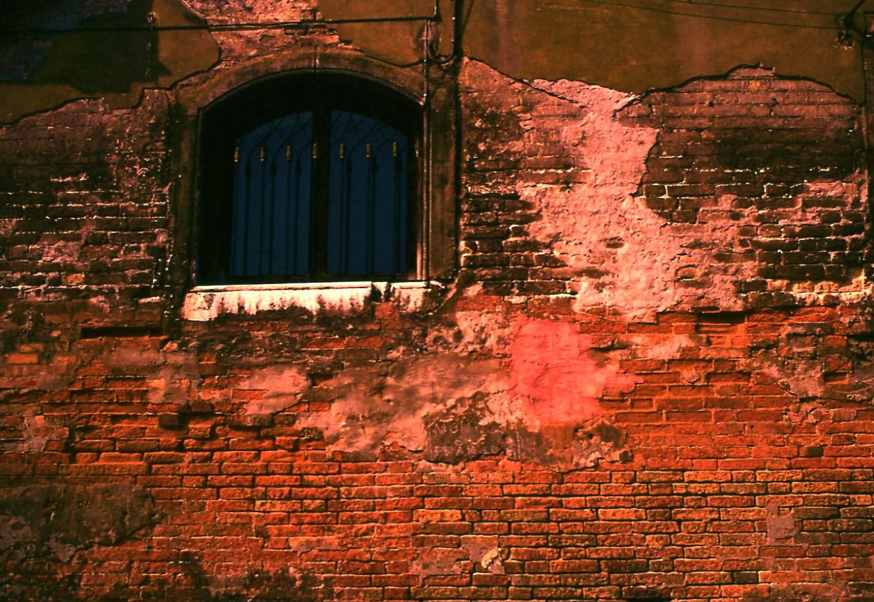 レンガの壁 The wall of brick  どうやってレンガを積み上げたのかがよくわかる ⓒToshihiko Shibano