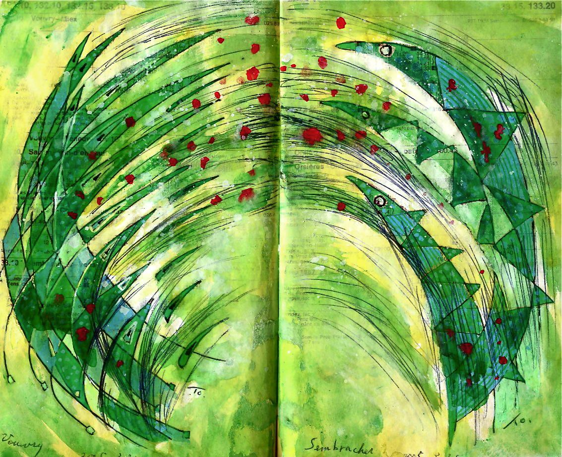 ジャンピング・ジャック・フィッシュ Jumping Jack fishes p132  2005  Media   Paper  18×22.5cm ⓒToshihiko Shibano